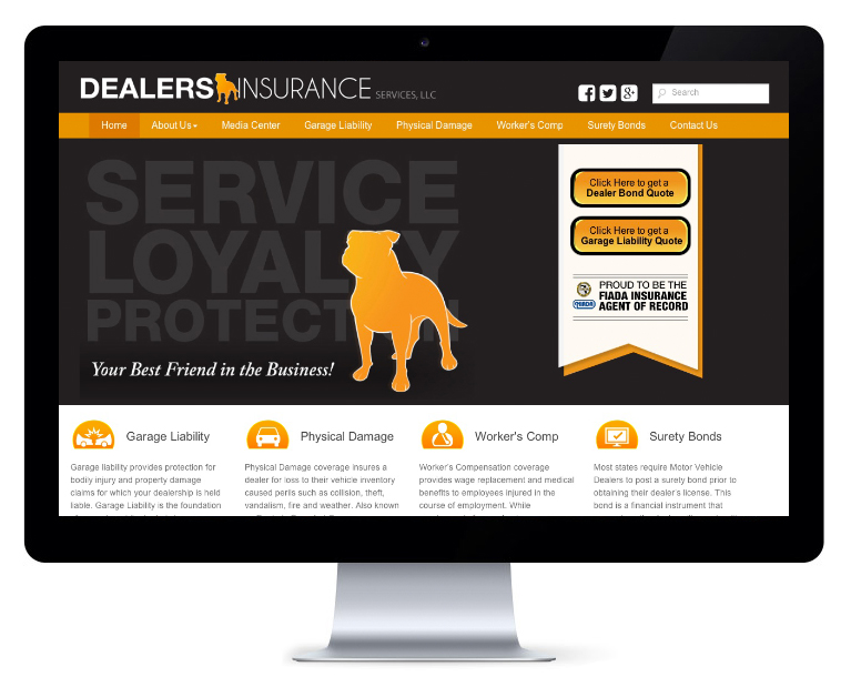 orlando web design Dealers Insurance