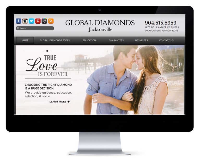 orlando web design Global Diamonds