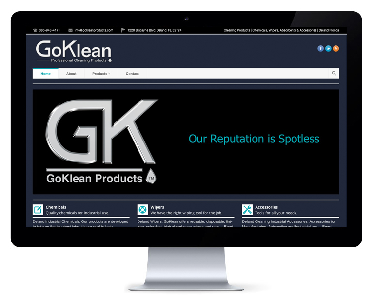 orlando web design Go Klean