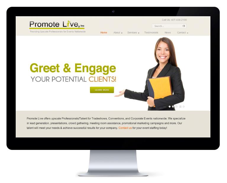 orlando web design Promote Live