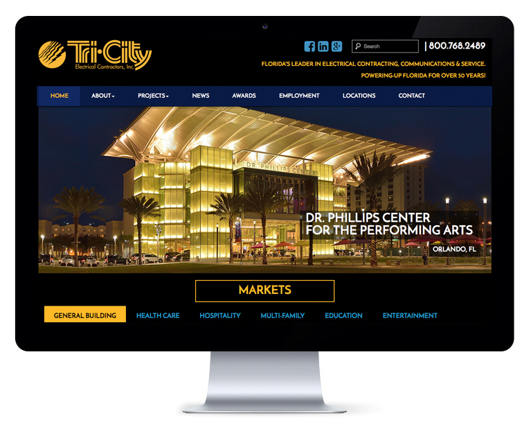 orlando web design TriCity Electrical