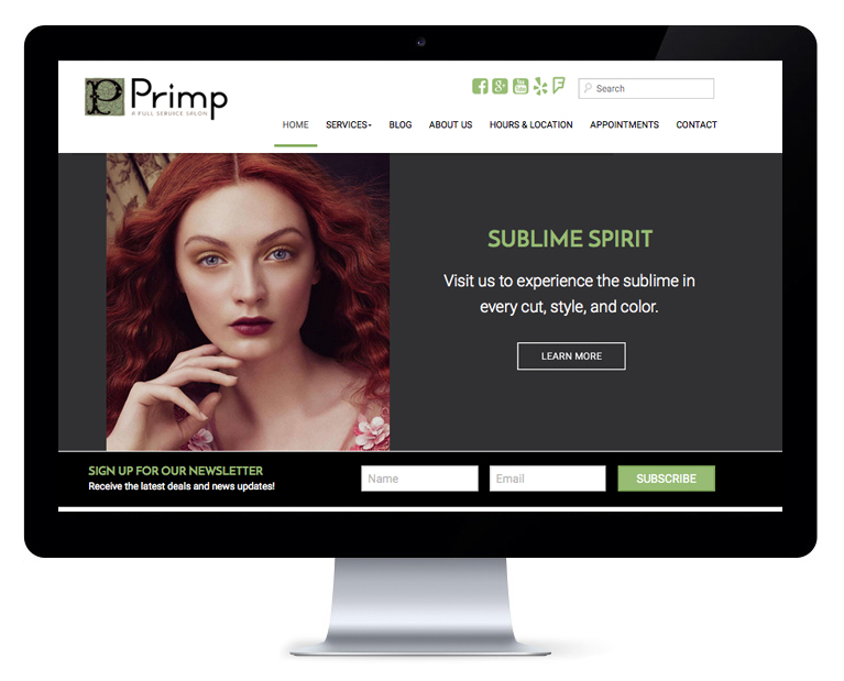 orlando web design Primp Salon