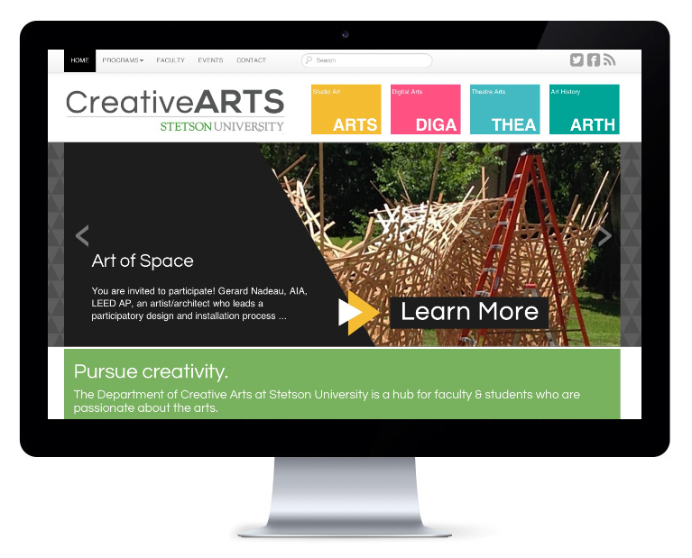 orlando web design Stetson creative arts