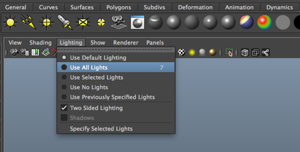 maya default lighting