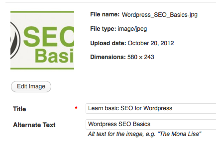 wordpress ALT Image tag