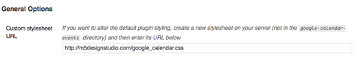 custom google calendar css
