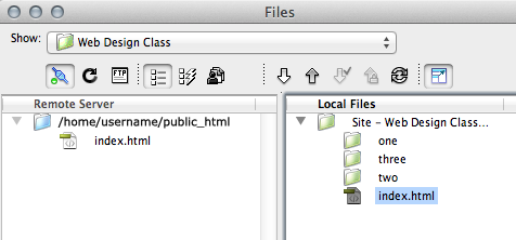 dreamweaver index file