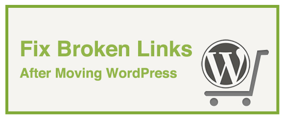 fix broken links after moving wordpress