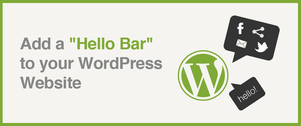 free hello bar wordpress plugin
