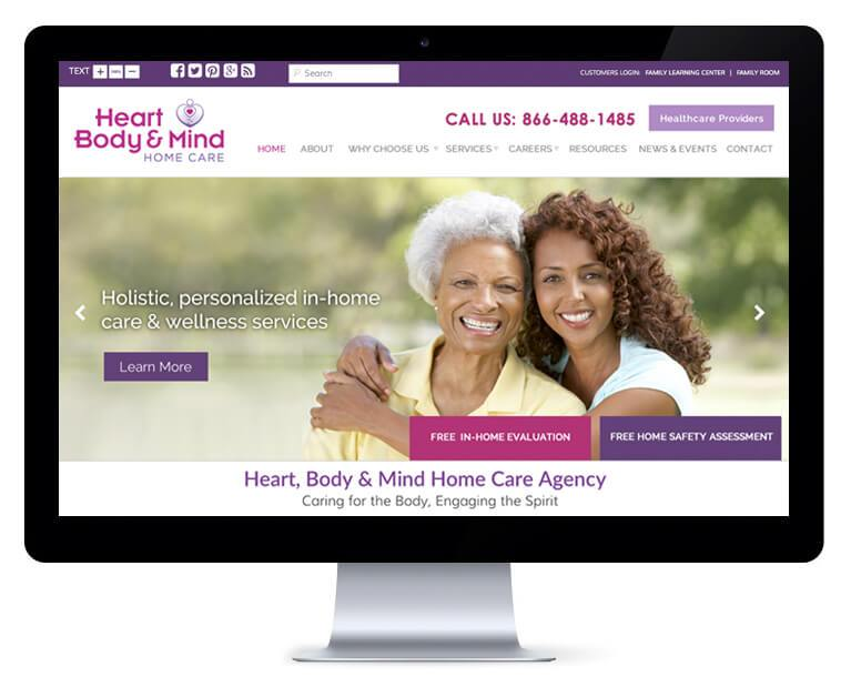 orlando web design Heart Mind Body Home Care