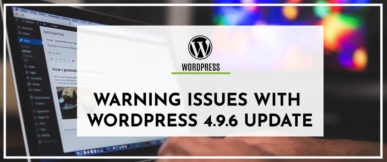 Warning Issues for WordPress 4.9.6 Update