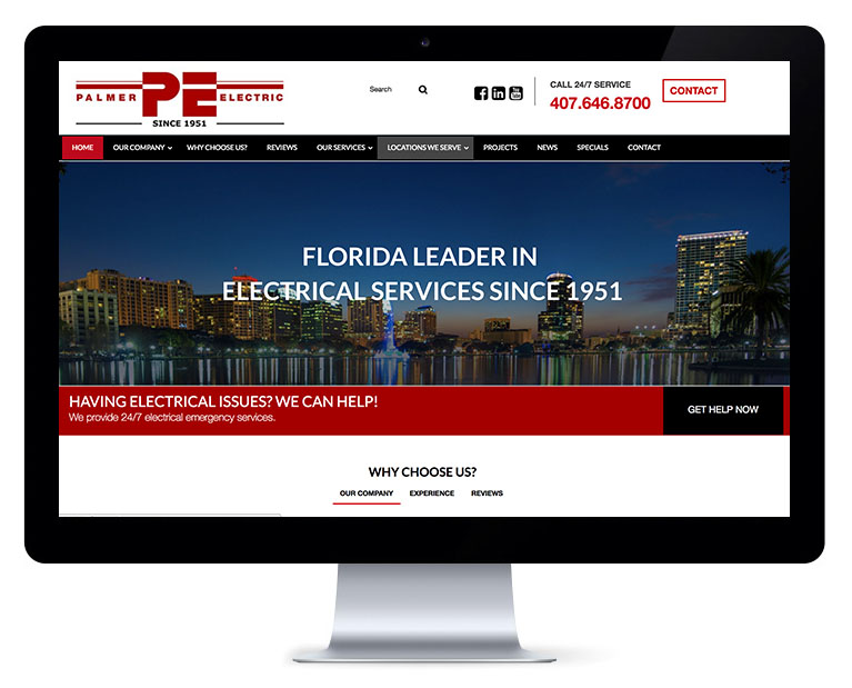 Orlando web design electric services
