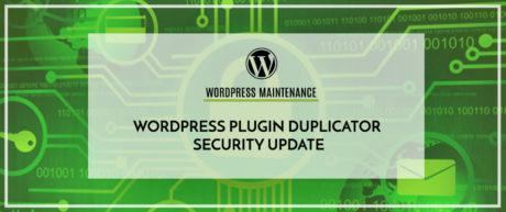 WordPress Plugin Duplicator Security Update