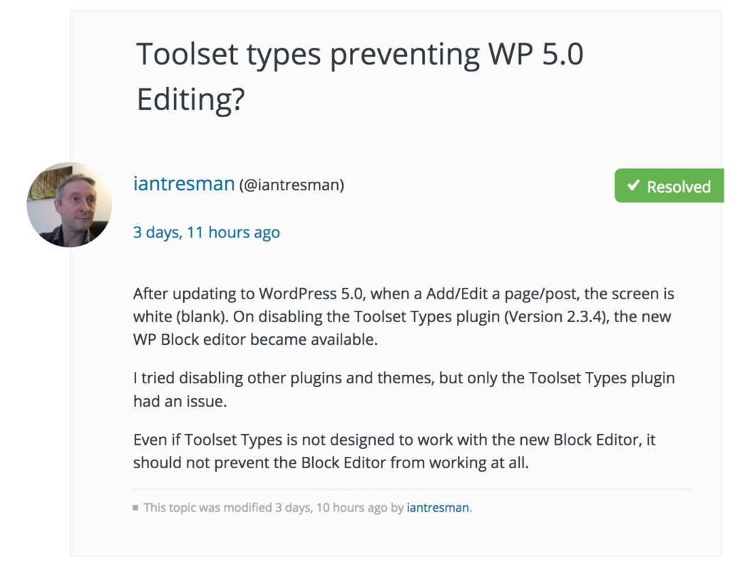wordpress 5 issues classic text editor