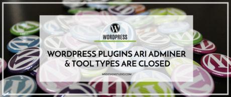 WordPress Plugins ARI Adminer & Tool Set Types are Closed