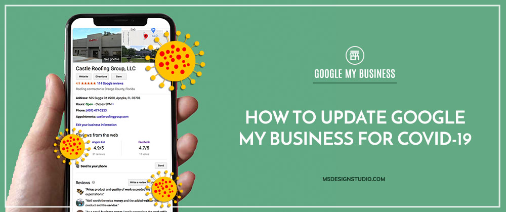 How to update GOOGLE MY BUSINESS COVID-19
