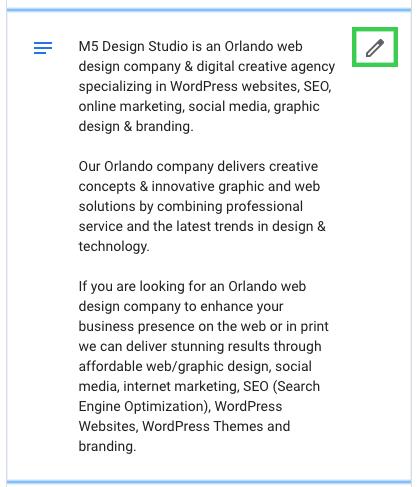 edit business description google