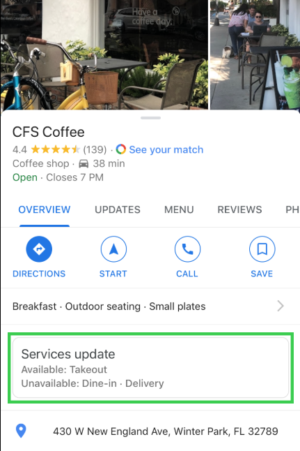 google business services update