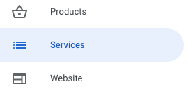 how to change services category google
