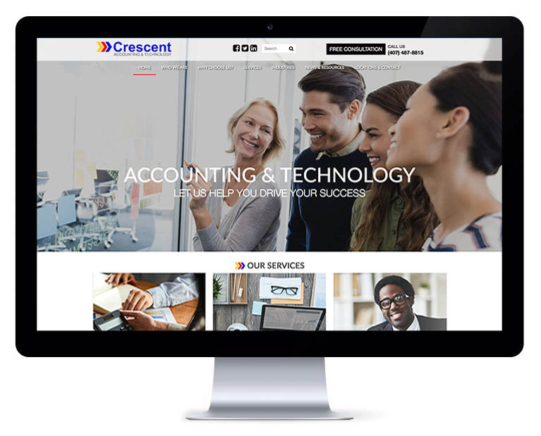 Orlando web design accounting services