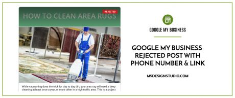 Google My Business Rejected Post with Phone Number & Link