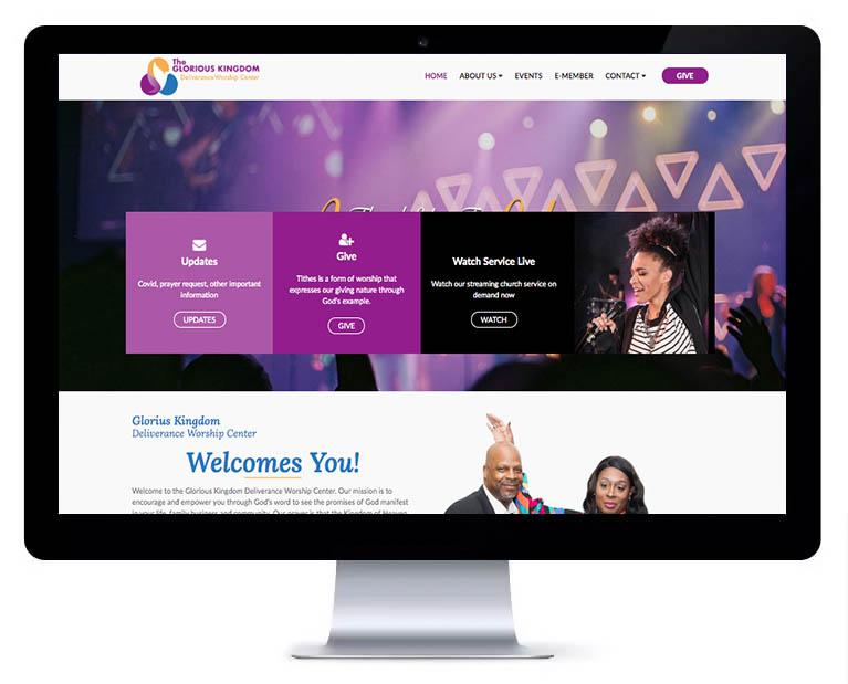 Orlando web design church services