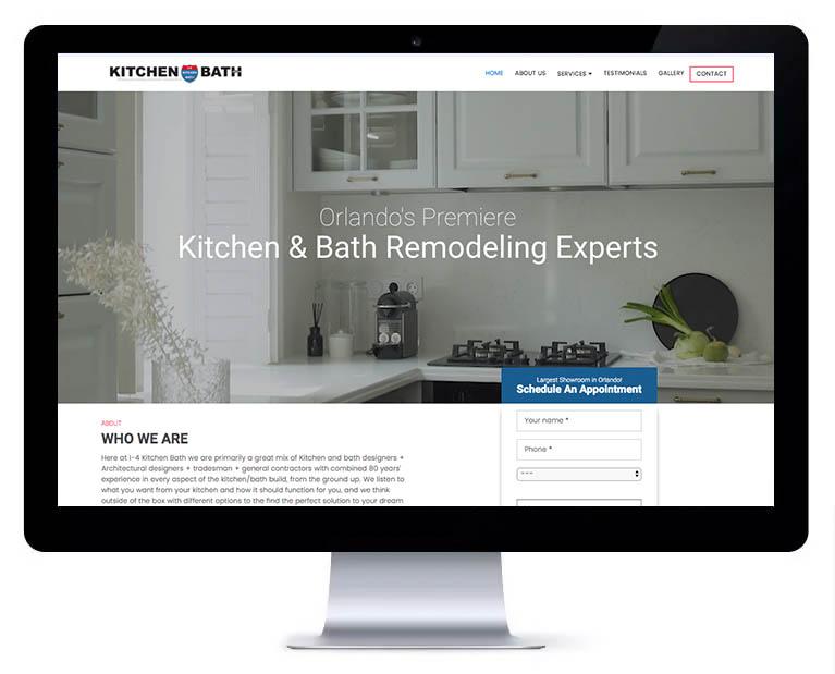 Orlando web design kitchen and bath remodeling services