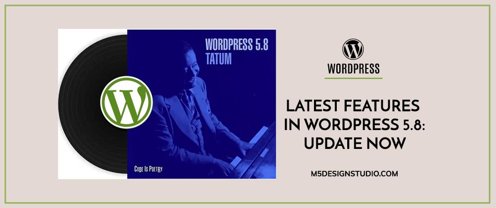 Wordpress 5.8 release maintenance